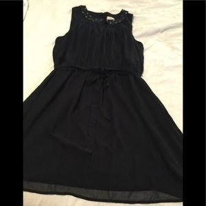 Ann Taylor Loft dress with jeweled collar size 14